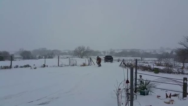 Texas snow boarding