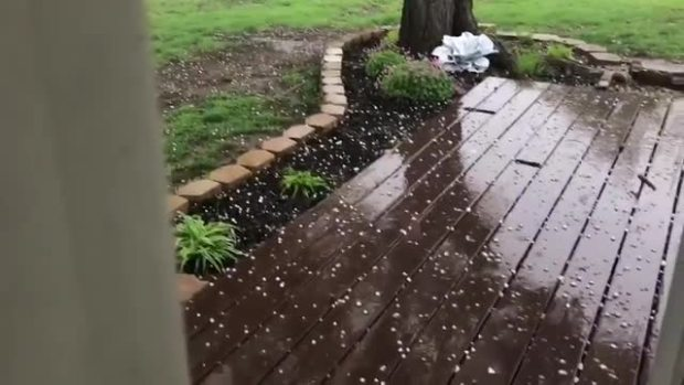 Small hail in north Bedford