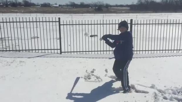 Hayden Berrier Snowball Hitting