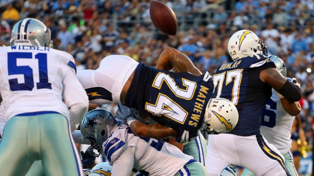 Sideline Photos: Chargers Top Cowboys in Preseason Opener