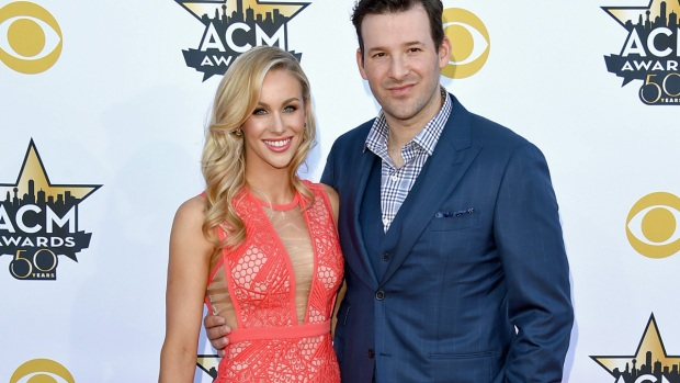 Tony Romo at the 2015 ACM Awards