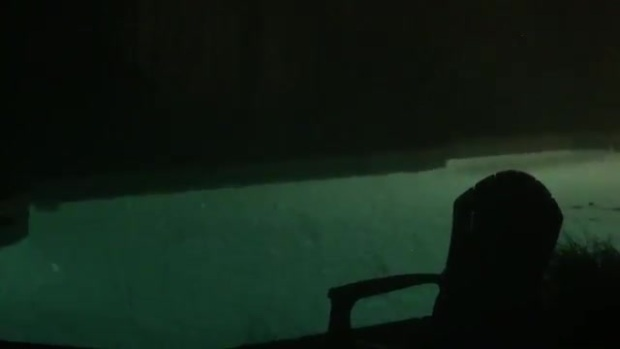 Video Hail in my Pool