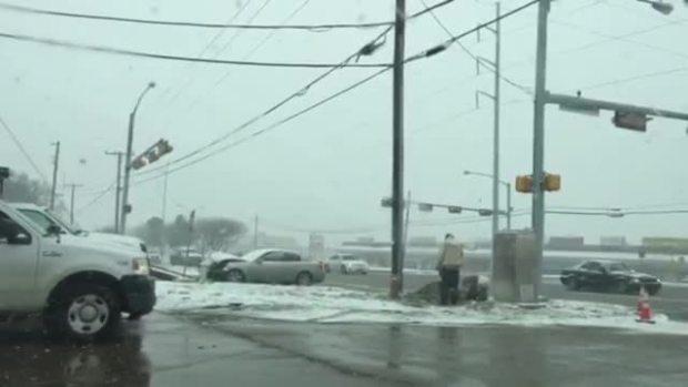 Crews Fixing Traffic Signals