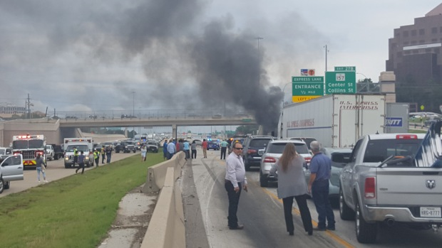 Witnesses Describe I-30 Chase, Fiery Crash