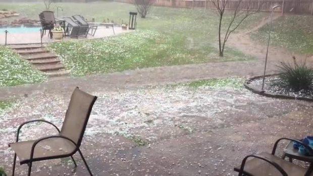 Hail in Eagle Mountain Lake