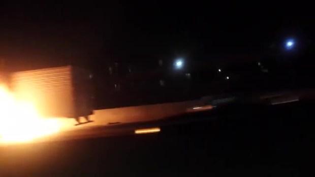 Viewer Captures I-35W Big-Rig Fire