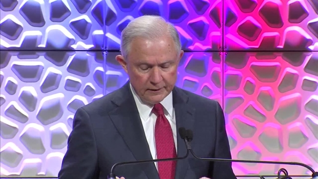 Raw Video AG Sessions Speaks at Anti Drug Conference