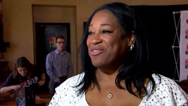 Myles Garrett's Mother, Audrey, Speaks at Son's Draft Party