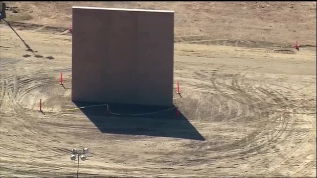 [DFW] Aerial View Shows Border Wall Prototypes