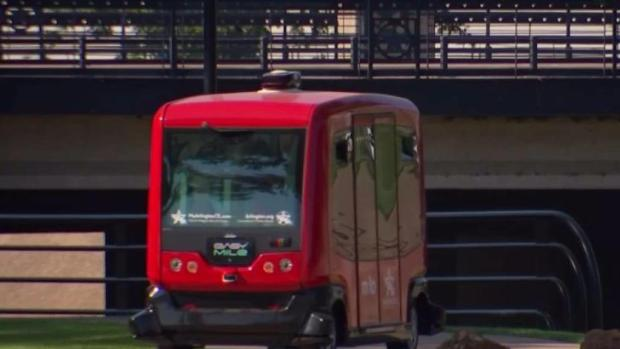[DFW] You Will Soon See Those Red Driverless Shuttles in Arlington