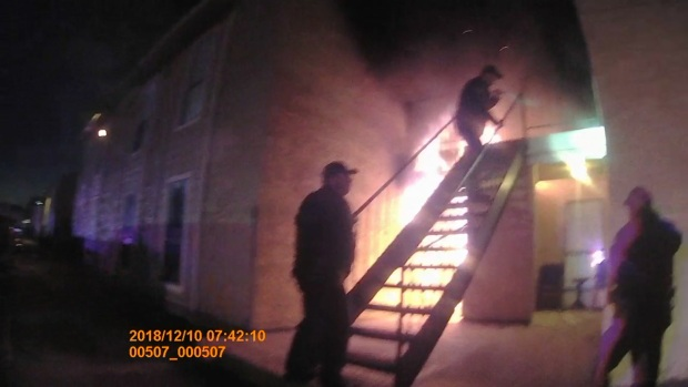 Balch Springs Officers Catch Boy Forced to Jump During Fire