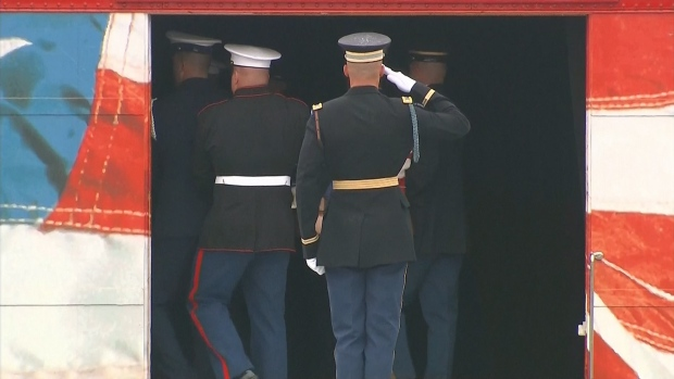 [NATL] George H.W. Bush Laid to Rest After Texas Farewell