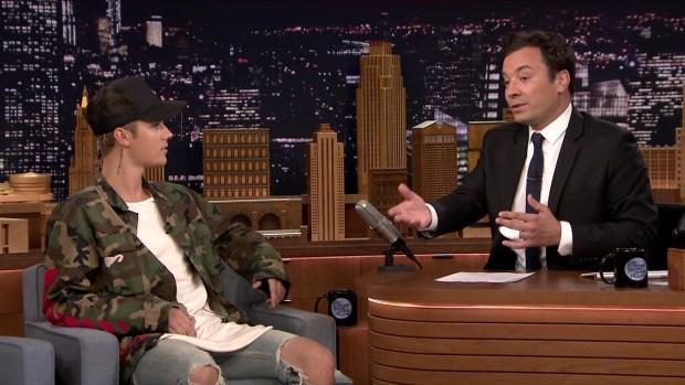 [NATL] 'Tonight Show': Justin Bieber Describes Emotional VMA Appearance