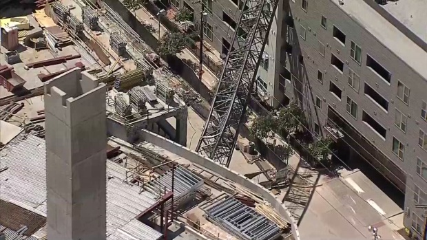 Raw Video: Aerials of Crane Collapse in Downtown Dallas