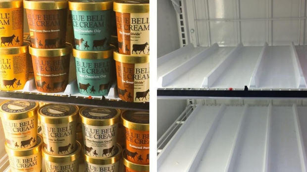 [DFW] Blue Bell Initiates Nationwide Recall of All Products