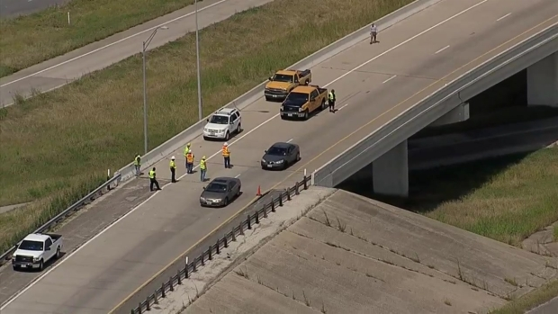 RAW VIDEO: Road Buckling in Fort Worth