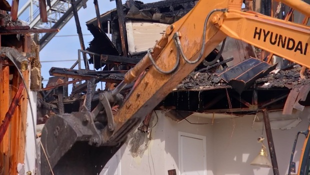 Apartment Building Demolished After Early-Morning Fire