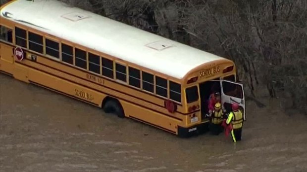 Students Rescued from Bus Stuck in High Water