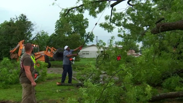 Neighbors Jump in to Help Clean-Up After Canton Storms