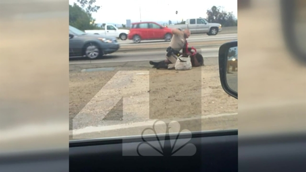 [LA] Cell Phone Video Shows CHP Officer Hitting Woman