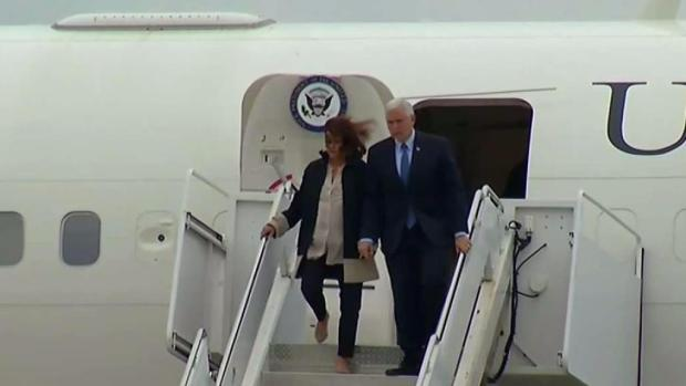 Vice President Mike Pence arriving at JBSA-Randolph