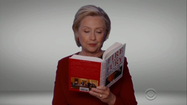 [NATL] Hillary Clinton Reads 'Fire and Fury' in Grammy Skit