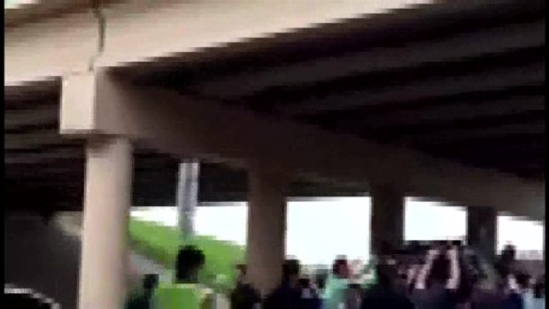Vehicle Plunges over Southlake Bridge