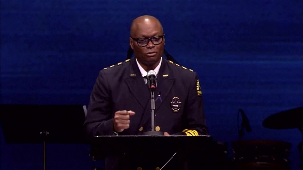 Chief Brown Leans on Faith at Funeral for Sgt. Smith