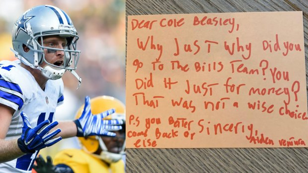 'Not a Wise Choice,' 8-Year-Old Pens Letter to Cole Beasley