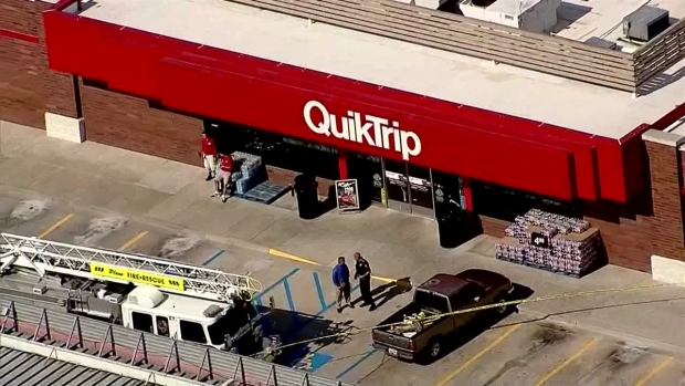 Raw Video Officer Involved Shooting at Plano Gas Station