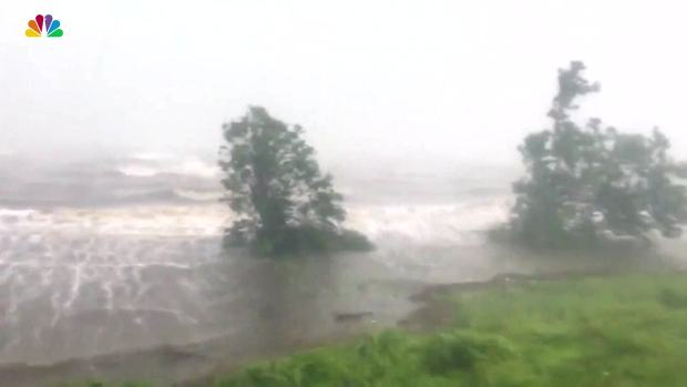 Strong Wind Rain Lash Fort Pierce Florida