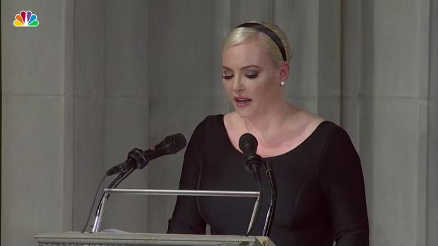 [NATL] Meghan McCain Takes Shots at President Trump While Honoring Her Late Father