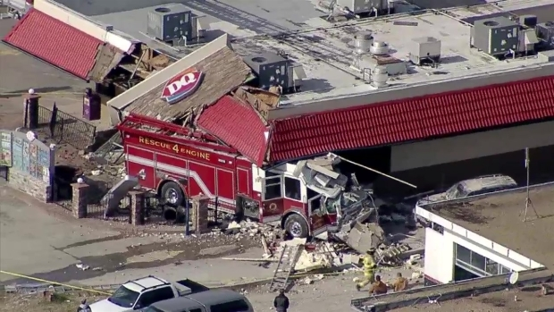 RAW VIDEO: Fire Engine Crashes Into Dairy Queen