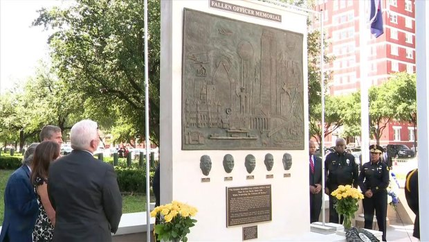 Memorial to 5 Officers Killed in Dallas Unveiled