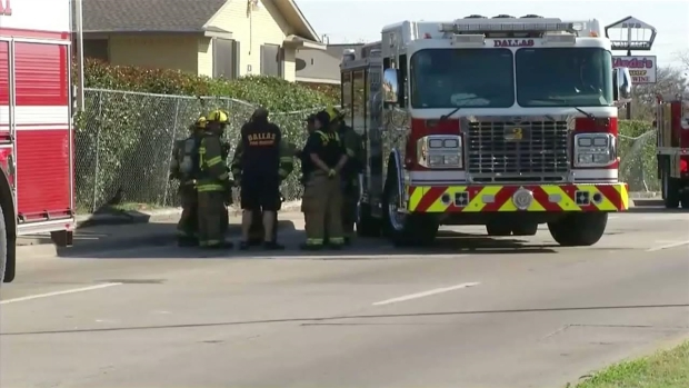 RAW VIDEO: Dallas Apartment Complex Evacuated Due to Natural Gas Leak