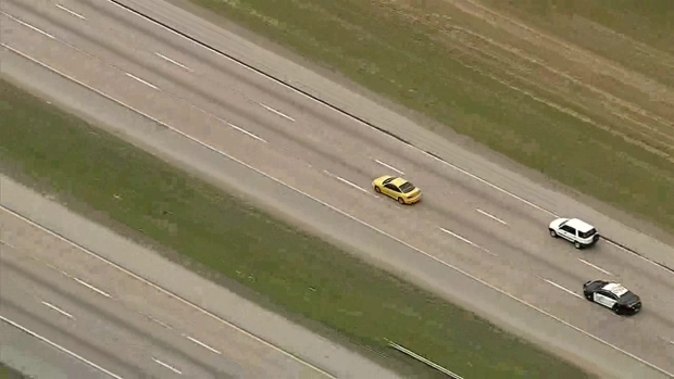 Fort Worth Police Chase Ends in University Park (Aerial)
