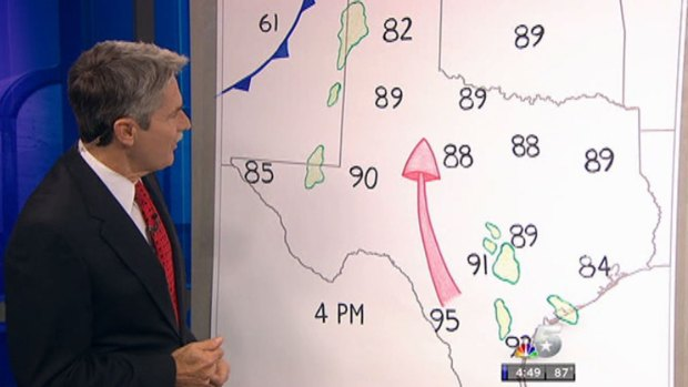 [DFW] David Finfrock Draws His Weather Maps
