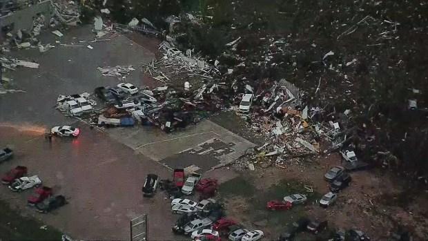 Canton Car Dealership Hard Hit by Tornado