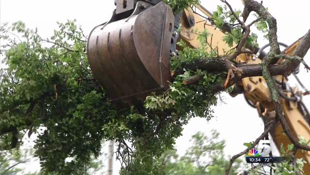 Storms Pound Denton Over Weekend