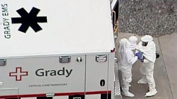 First Ebola Patient Arrives at Emory