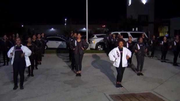 [DFW] Mansfield Step Team Visits NBC 5