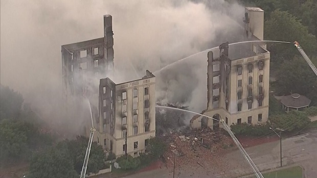 Massive Fire Destroys Ambassador Hotel in Dallas