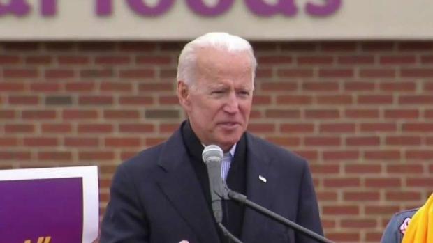 [NATL NECN] Former VP Joe Biden Throws Support Behind Striking Stop & Shop Workers
