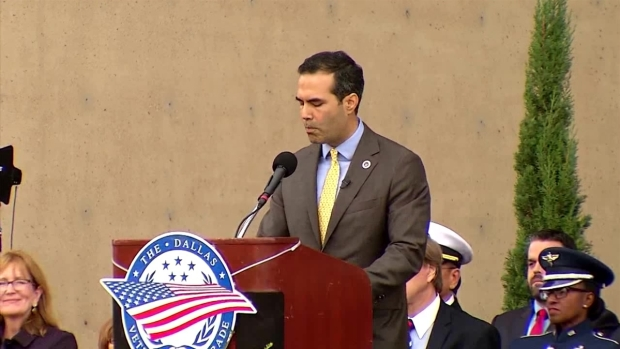 George P. Bush Addresses Crowd at Dallas Veterans Day Parade