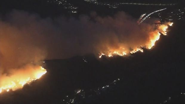 New Fire Threatens Getty Center, 405 Freeway