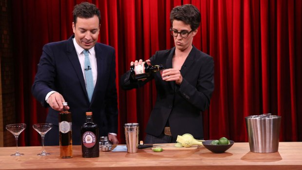[NATL] 'Tonight': Mixing Cocktails with Rachel Maddow