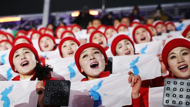 North Korean 'Army of Beauties' Cheers on a Unified Team