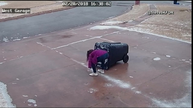 [DFW] Girl Slips on Ice While Doing Chores