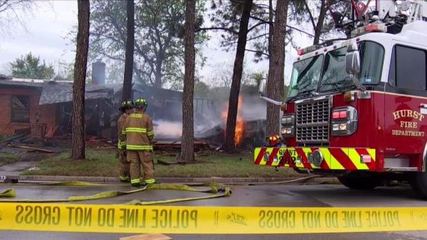 Explosion, Fire After Vehicle Crashes into Home in Hurst