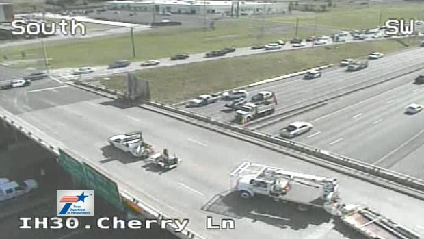 I-30 Eastbound Closed at Cherry Due to Major Accident